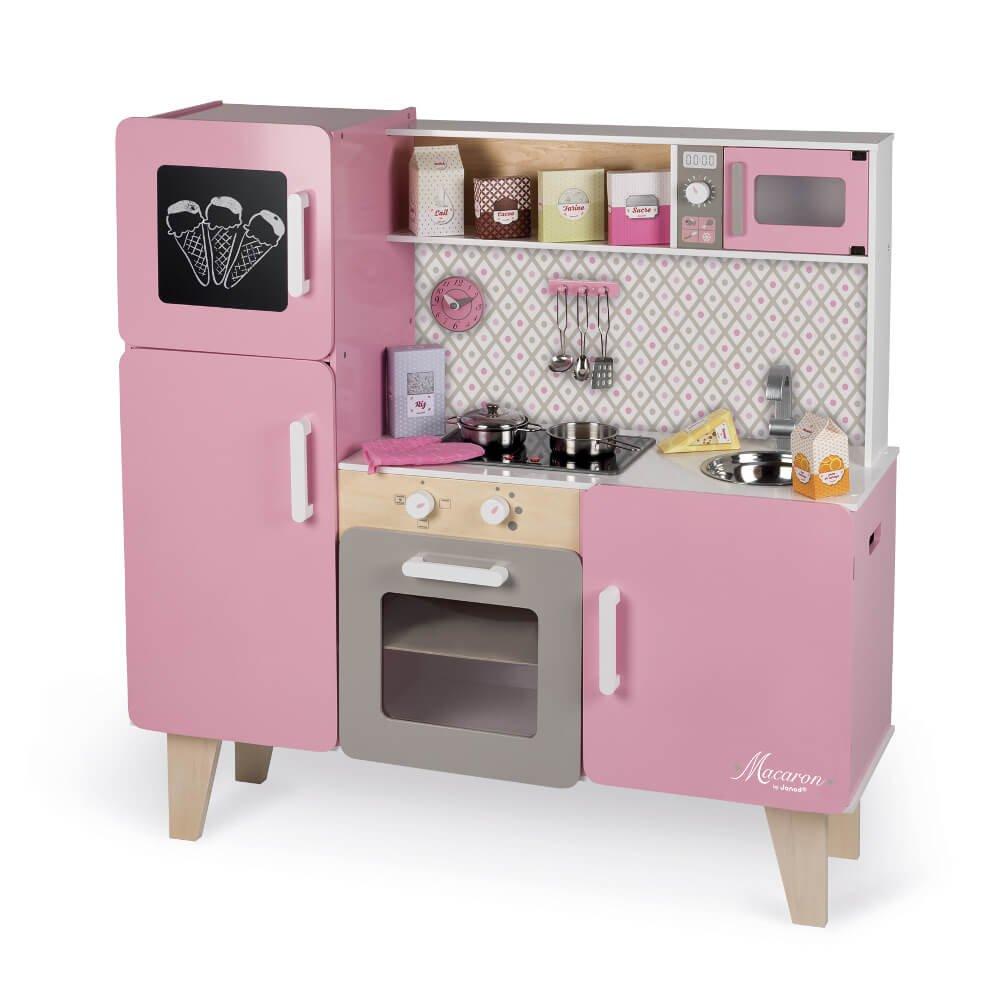 Janod J06571 Maxi Cucina di Legno Macaron, Rosa, Colore - Giochi Legno