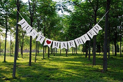 Sevenmye Hochzeitsgirlande/Wimpelkette mit Aufschrift