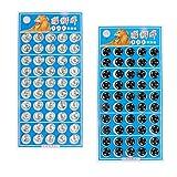 B Blesiya 100 Pares Botones de Presión Metálicos Broche Perno de Costura Artesanal de Camisas Ropas Fabricación de Muñecas 10mm