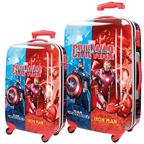 Marvel Kofferset Civil War Koffer-Set, 86 Liter, Rot