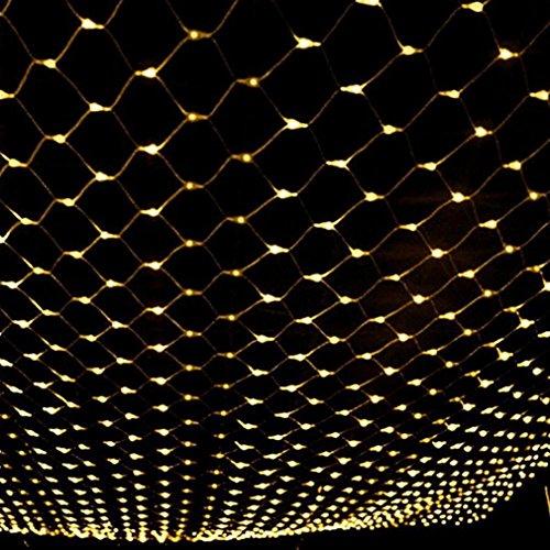 JZYXX Lichternetz Weihnachten, 8M x 10M 2600LED, Fairy Fishing Netze Lichter Festival Dekorationen Mesh Lights Hohe Helligkeit, Outdoor wasserdicht, Farbe wählbar, mit Tail Connection , warm white