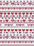 Decopatch Papier mit roten Herzen