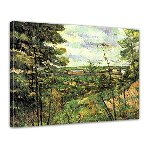 Leinwandbild Paul Cézanne Das Tal der Oise - 40x30cm quer - Wandbild Alte Meister Kunstdruck Bild auf Leinwand Berühmte Gemälde -