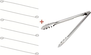 Stainless Steel Round Skewers for Grill//Chef Direct - 6 PCS Pack//Barbecue Tandoor Tikka Kebab Kabob Metal Sticks