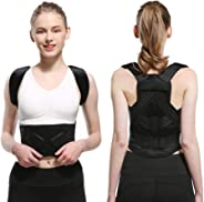 Posture Corrector, Adjustable Shoulder & Back Brace Support for Women and Men - Improve Bad Posture, Shoulder, Back, and Neck Pain Relief black,L