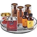 mDesign rangement épices tournant – etagere a epices pour nécessaire à pâtisserie et conserves – meuble de rangement circulai