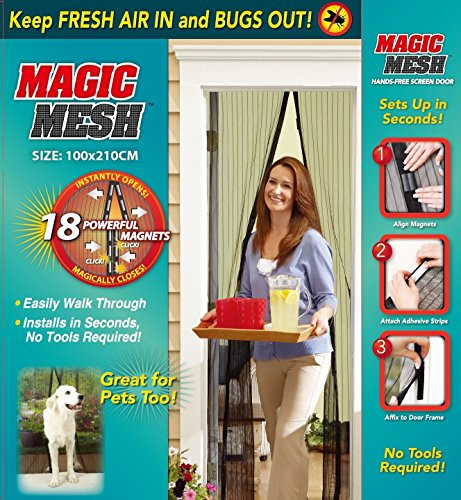 Magic mesh tenda magnetica anti zanzare zanzariera 210x 100cm nero antitabacco