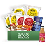 The Green Snack Co. Kids Munchies Snack Box Pack of 8 - Roasted Snacks Made with Supergrains   Healthy Snacks