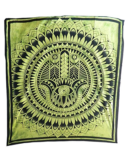 bedspread-hand-of-fatima-green-coverlet-oriental-india-decor-cotton-wall-art-bed-couch-sofa-cover