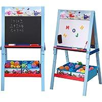 Natsen Super Wings Tableau blanc et tableau blanc en bois pour enfant 106 x 54 x 53 cm
