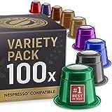 Blandat Smakpaket med hela vårt utbud av kaffekapslar. 9 olika sorter. 100 kaffekapslar