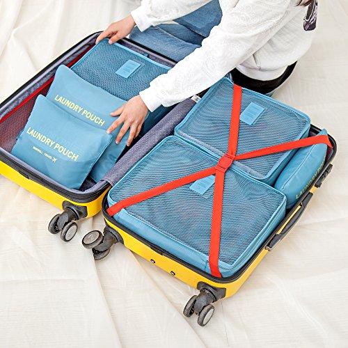 ALI VICTORY , Unisex Mädchen Damen Kofferorganizer Gr. L, himmelblau