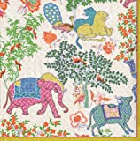 from Caspari Caspari Les Jardins De Mysore Paper Cocktail Napkins, Pack of 20 Model 11930C