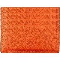 Hibate (Arancione) Uomo Donna Porta carte di credito Portafoglio sottile in pelle Blocco RFID Blocking Credit Card…