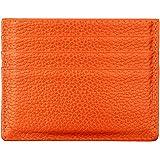 Hibate (Arancione) Uomo Donna Porta carte di credito Portafoglio sottile in pelle Blocco RFID Blocking Credit Card Holder Wal