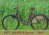 1937 ADLER Fahrrad (Wandkalender 2019 DIN A2 quer): Adler Damenfahrrad von 1937 (Monatskalender, 14 Seiten ) (CALVENDO Kunst)