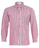 Kinder Trachtenhemd Rot Weiß kariert Gr. 104 - Schönes Trachten Hemd für Kinder in verschiedenen Farben verfügbar - Perfekt zur Lederhose für Buben