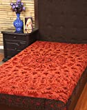 Comforters Bedsheets Cotton Rust Embroid...