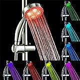 LED Duschkopf Hochdruck Spa Duschkopf Filtration Spray Sprinkler Handbrause mit Druck-Boost-Düsen-Technologie + 7 leuchtende LED-Farben