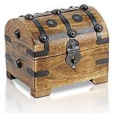 Bauern-Kasse Schatz-Truhe Schatz-Kiste aus Holz (Mittel M)