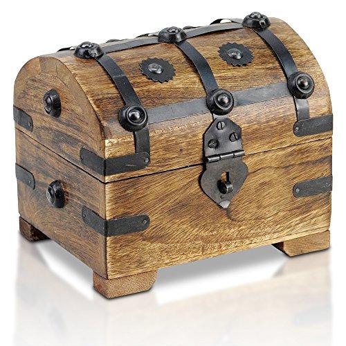 Brynnberg - Caja de Madera Cofre del Tesoro Pirata de Estilo Vintage,