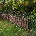 Beeteinfassung Beetumrandung Gartenzaun Abgrenzung Holzzaun Weide Garten von Melko - Du und dein Garten