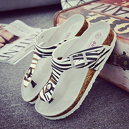 Estate Sandali Pattini da spiaggia delle coppie Pantofole femminili di sughero Pattini femminili di modo estivo con 3 colori Colore / formato facoltativo 1003