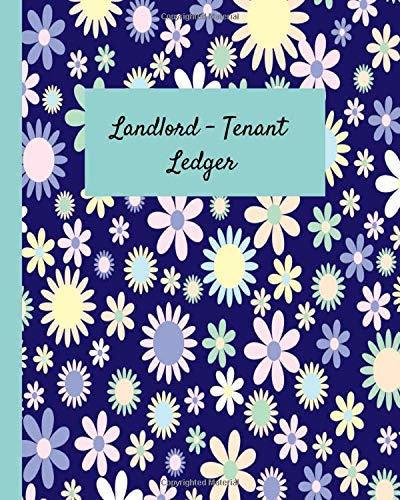 Landlord - Tenant Ledger: Your 12 Month Logbook Journal to Record 50 Rental Units / With 50 Maintenance / Notes / Stay Organized For Taxes / Pretty Purple Floral Cover