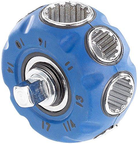 AGT Steckschlüssel: Hand-Schraubwerkzeug mit Steckschlüsseln, Bit-Aufnahme und Ratsche (Handschraubwerkzeug)