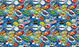 Life Decor Autocollant - Comic Pop Art Blue PAT085 de Meubles avec du PVC, Bullet de Stickers pour Papier Peint: