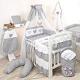 9tlg Babybettwäsche 135x100cm Kinderbettwäsche Bettwäsche Himmel Nestchen Set (D4)