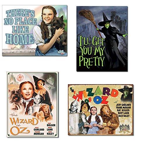 Blechschild Bundle-There 's No Place Like Home, I 'll Get You My Pretty (Wicked Witch), bebilderte von Poster Cast und 70. Jahrestag ()