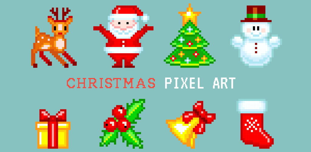 Christmas 2018 Pixel Art Easy Christmas Coloring ( Color ...