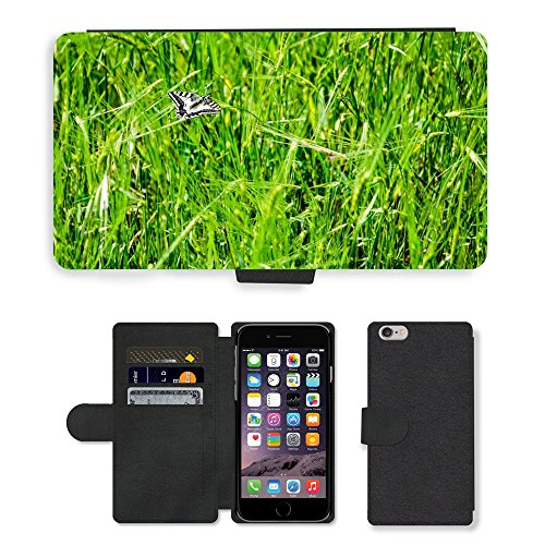 Just Mobile pour Hot Style Téléphone portable étui portefeuille en cuir PU avec fente pour carte//m00138556papillon Nature Naturel Animal//Apple iPhone 6Plus 14cm