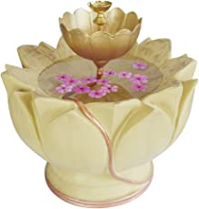 Greymode Kamalam Uruli - A Beige Lotus Decorative floater bowl for flowers