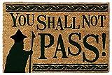 1art1 103463 Der Herr Der Ringe - You Shall Not Pass Fußmatte Türmatte 60 x 40 cm