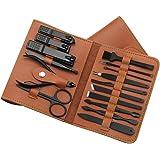 Leeofty 16 in-Manicure Set,Tagliaunghie Set Professionale,Acciaio inossidabile Set di Strumenti per Manicure,Strumento per la
