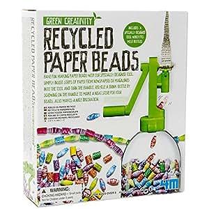 kit de fabrication de perles en papier recycl es coffret de loisir cr atif pour enfants 6 ans. Black Bedroom Furniture Sets. Home Design Ideas