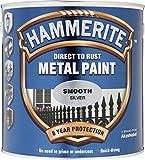 2,5 Liter Hammerite Metallschutzlack glänzend silber …