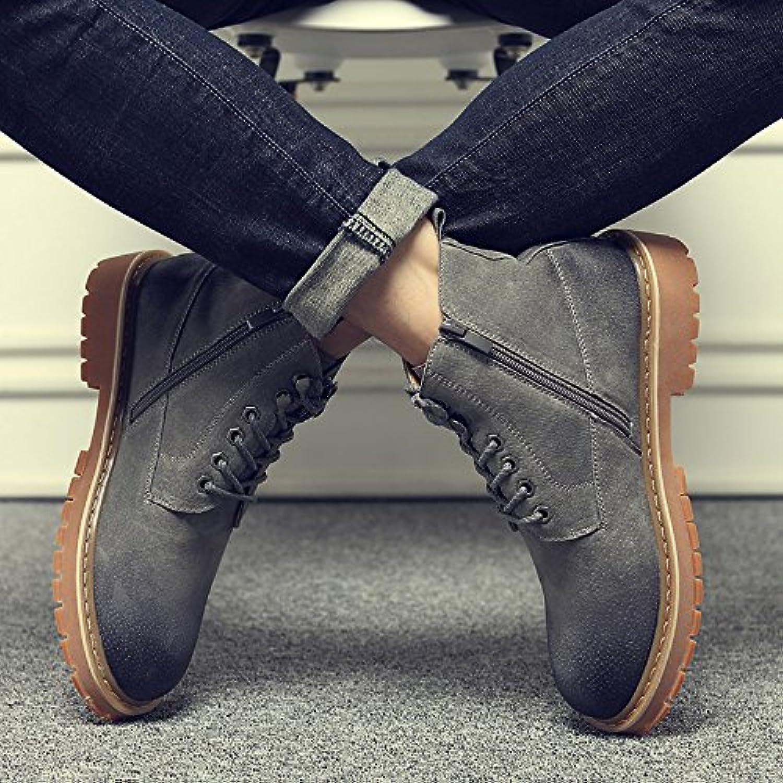 HL-PYL-Ayudar a Martin botas botas All-Match Retro coreano mate botas masculinas,42,gris