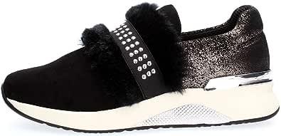 CafèNoir - Sneakers Slip on Donna in camoscio - Nero - Cafè Noir - DA522 010 - LDA522010