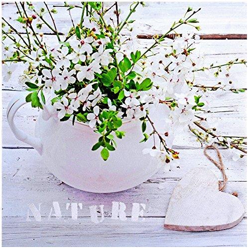 Promobo - Tableau Toile Cadre Déco Zen Fleur Coeur Inscription Nature