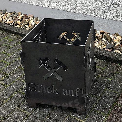 POTTFIRE Feuersäule Feuerstelle Lichtsäule Feuertonne Ruhrpott Förderturm
