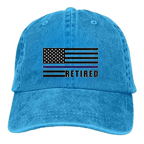 Lightweight Baseball Cap USA Flag Retired Thin Blue Line Washed Twill Cotton Outdoor Adjustable Hats