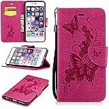 Funda Apple iPhone 6s Plus(5.5 Zoll ) Case , Ecoway el patrón de gofrado PU Leather Cuero Suave Cov