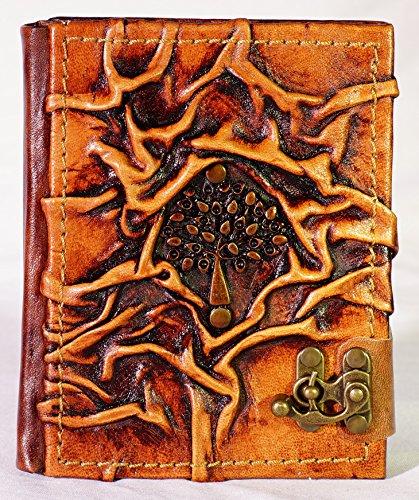 Notizbuch Leder Baum Tagebuch mit Verschluß Poesiealbum Lederbuch Diary