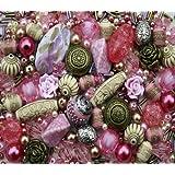 Rose Garden Pink Jewellery Making Starter Beads Mix Set