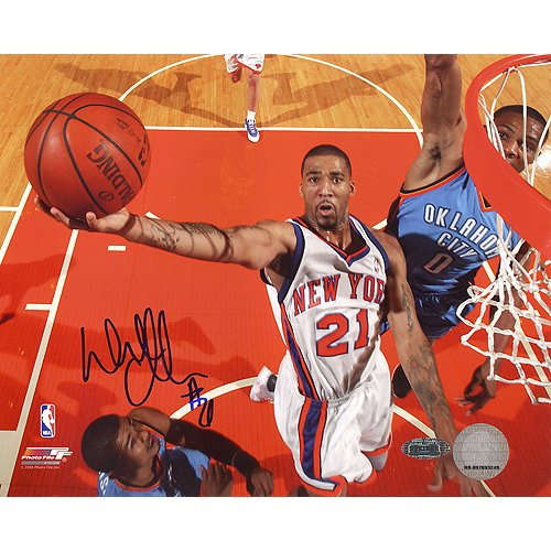 Steiner Sports NBA New York Knicks Wilson Chandler Rückwand Cam Lay-up vs. Thunder Foto, 6x 20 -