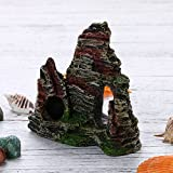 Berrose-1 Stück Berg Aussicht Aquarium Steingarten Höhlenbaum verstecken Aquarium Ornament Dekoration-Aquarium Dekoration, Wohnaccessoires (11 cm * 9,5 cm * 5,5 cm, C)