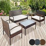 Miadomodo – Conjunto de muebles de poliratán para jardín – ...